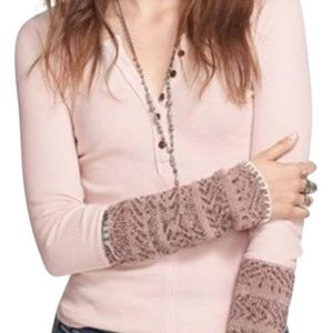 FREE PEOPLE Sweater Cuff Thermal in Frosty Pink